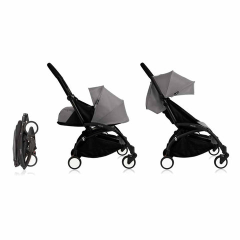 Babyzen YoYo Plus Complete Stroller - Black with Grey - Strollers - Natural Baby Shower