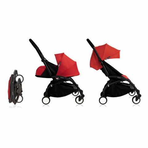 Babyzen YoYo Plus Complete Stroller - Black with Red - Strollers - Natural Baby Shower