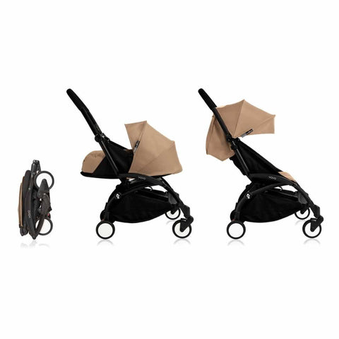 Babyzen YoYo+ Complete Stroller in Black with Taupe