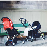 Babyzen YoYo Plus Complete Stroller White with Taupe Lifestyle