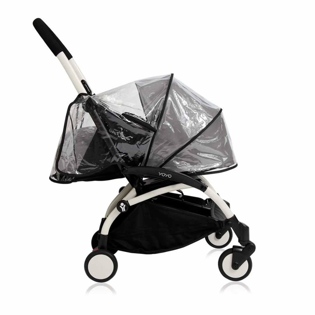 Babyzen YoYo Plus Complete Stroller White with Blue 0+ Raincover