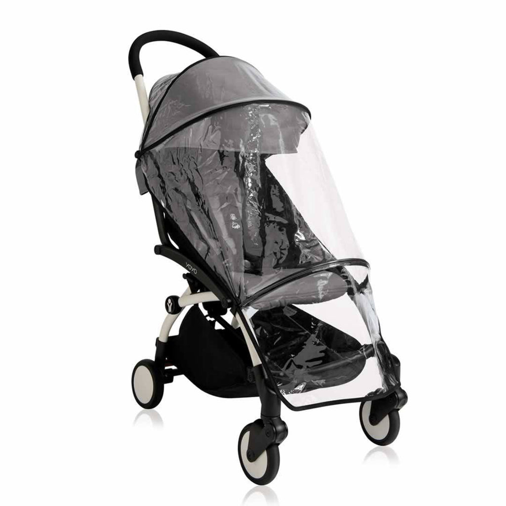 Babyzen YoYo Plus - 6+ Stroller White with Black Raincover