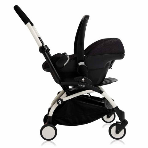 Babyzen YoYo Plus Complete Stroller - Black with Air France Blue Car Seat