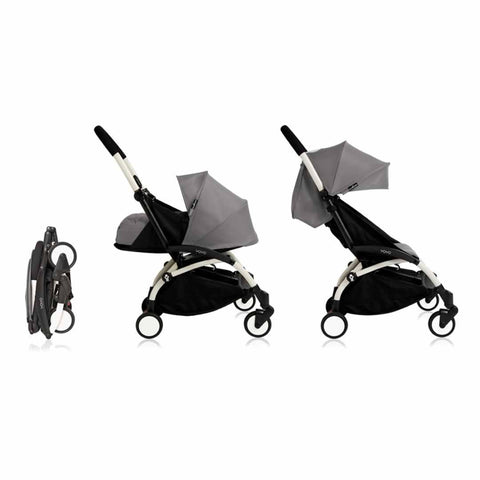 Babyzen YoYo Plus Complete Stroller - White with Grey - Strollers - Natural Baby Shower