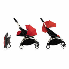 Babyzen YoYo+ Complete Stroller in White with Red