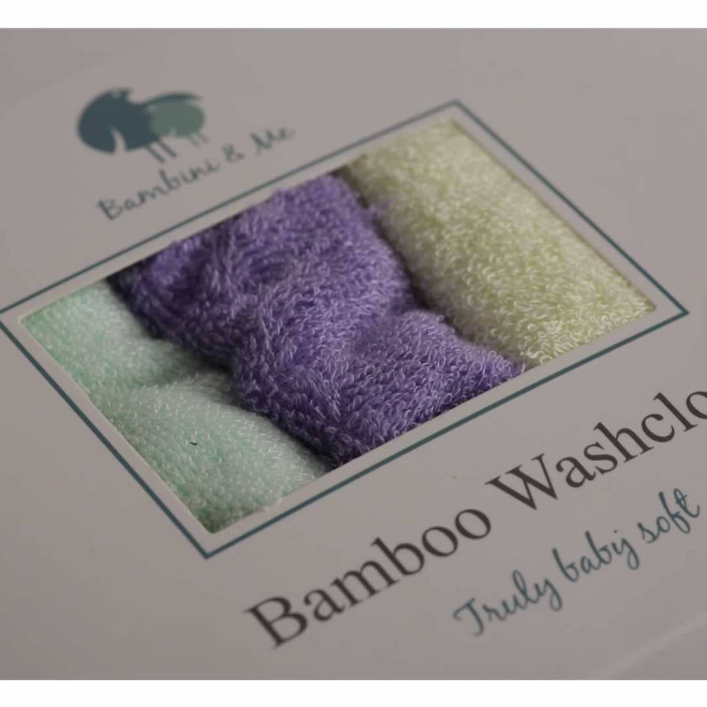 Bambini & Me Face Cloths - Towels & Robes - Natural Baby Shower