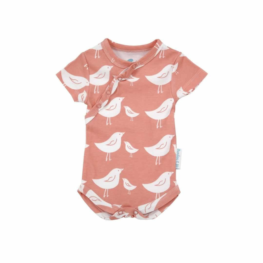 Bambini & Me Short Sleeve Body Suit Bird