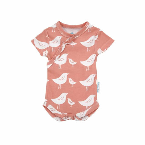 Bambini & Me Short Sleeve Body Suit - Bird - Bodies & Vests - Natural Baby Shower