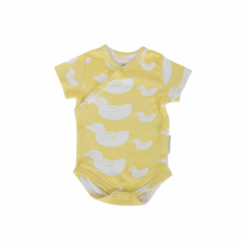 Bambini & Me Short Sleeve Body Suit - Duck - Bodies & Vests - Natural Baby Shower