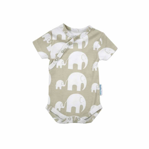 Bambini & Me Short Sleeve Body Suit - Elephant - Bodies & Vests - Natural Baby Shower
