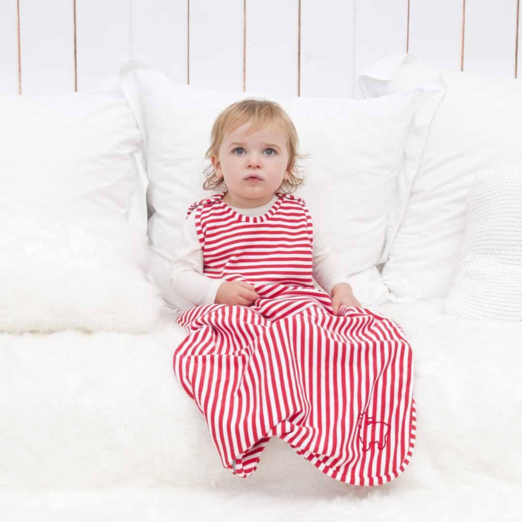 Bambino Merino Toddler Sleeping Bag Poppy Stripe Winter Weight Lifestyle