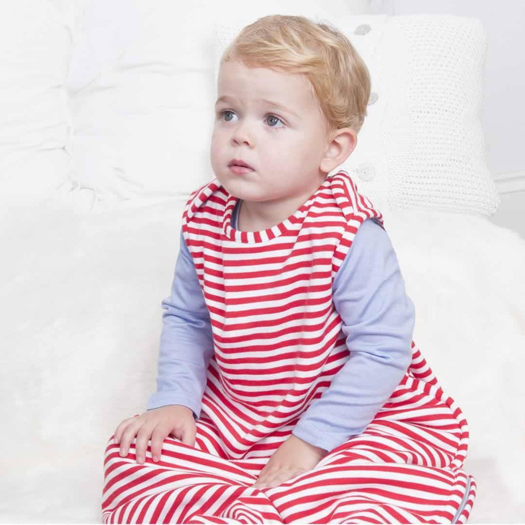 Bambino Merino Baby Travel Sleep Bag Poppy Stripe Lifestyle