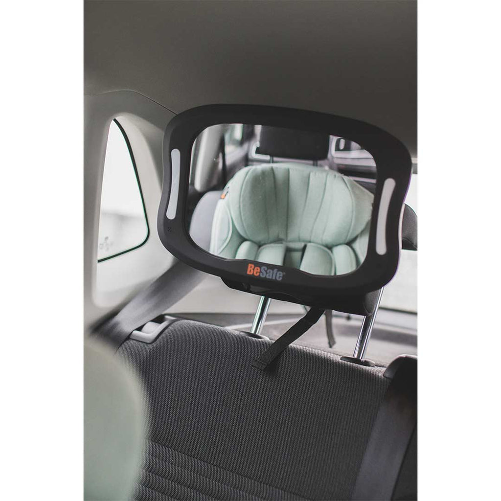 BeSafe Baby Mirror XL with Lights-Car Seat Kits- Natural Baby Shower