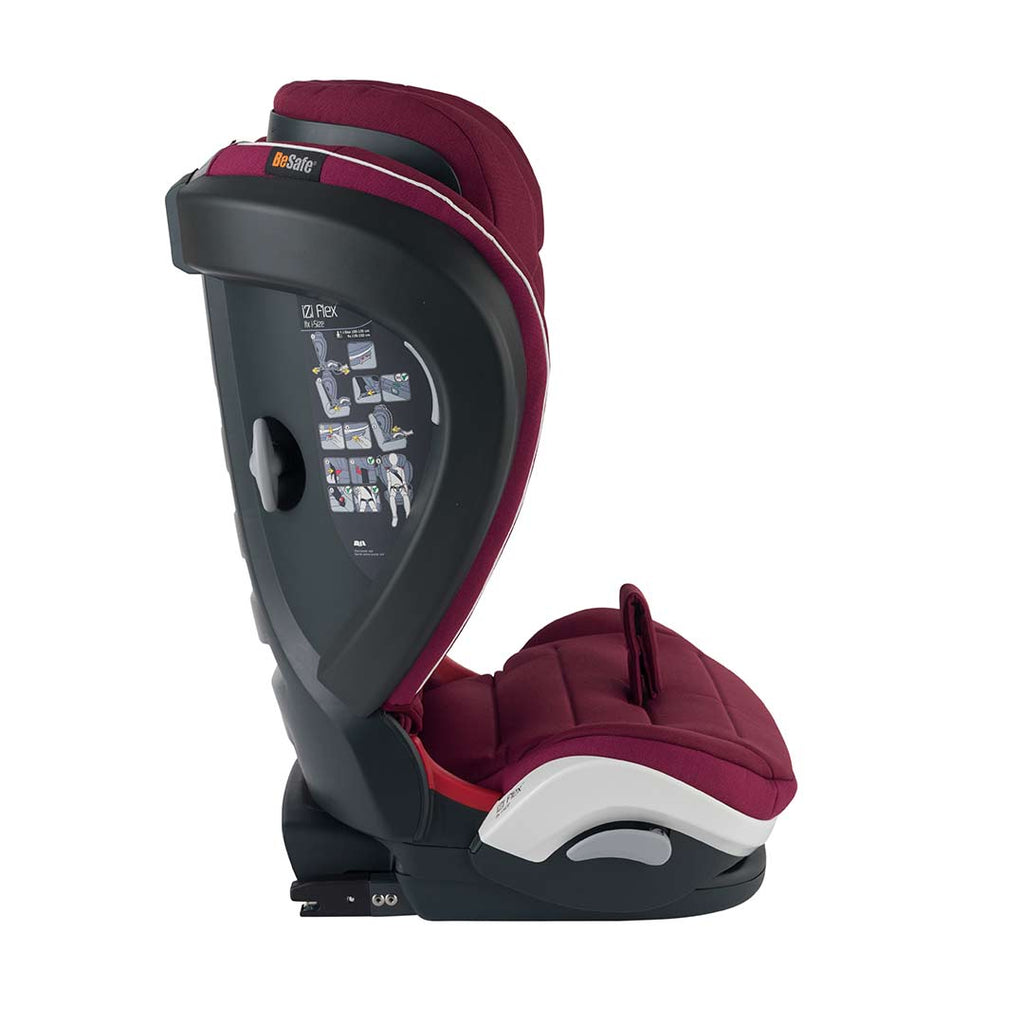 BeSafe iZi Flex Fix i-Size Car Seat - Burgundy Melange-Car Seats- Natural Baby Shower