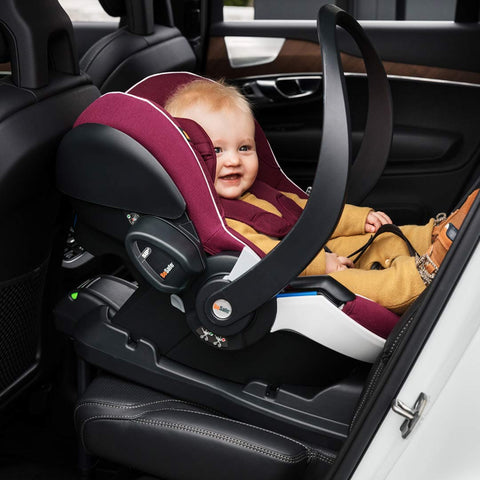 BeSafe iZi Go Modular Car Seat - White Edge & Burgundy Melange-Car Seats- Natural Baby Shower