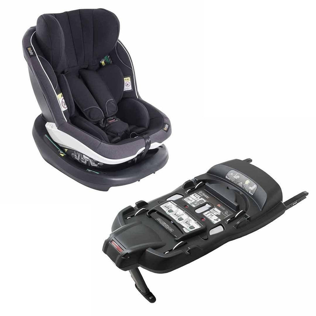 BeSafe iZi Modular Car Seat + Base Midnight Melange