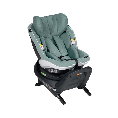 BeSafe iZi Turn i-Size Car Seat - Sea Green Melange-Car Seats- Natural Baby Shower