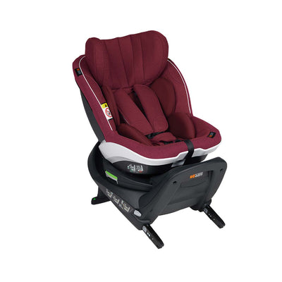 BeSafe iZi Twist i-Size Car Seat - Burgundy Melange-Car Seats- Natural Baby Shower