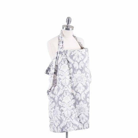 Bebe Au Lait Cotton Nursing Cover in Chateau Silver
