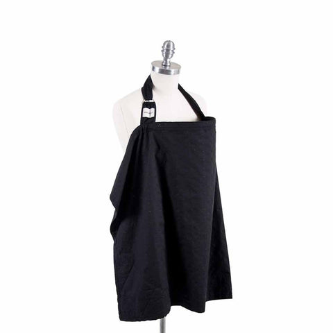 Bebe Au Lait Cotton Nursing Cover - Eyelet Black-Nursing Covers- Natural Baby Shower