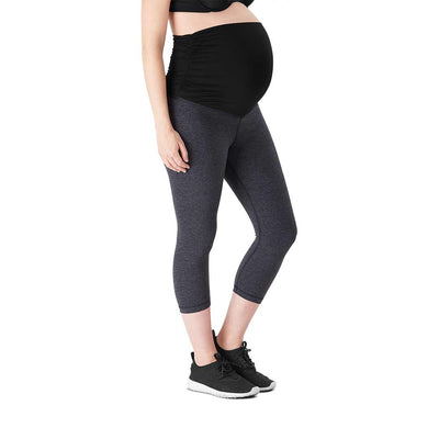 Belly Bandit Activewear Leggings - Charcoal-Maternity Leggings- Natural Baby Shower