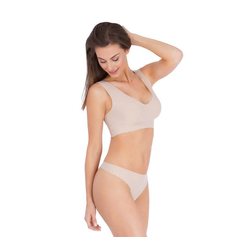 Belly Bandit Anti Thong - Nude-Maternity Underwear- Natural Baby Shower