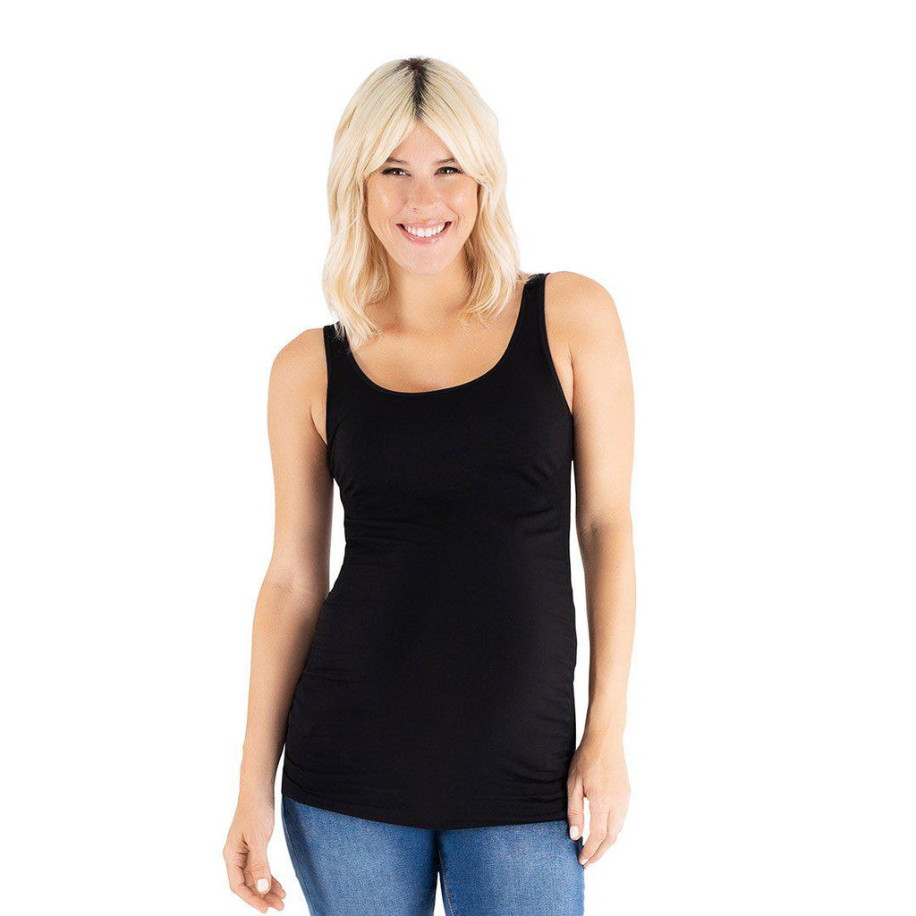 Belly Bandit B.D.A Maternity Tank - Black-Maternity Tops- Natural Baby Shower
