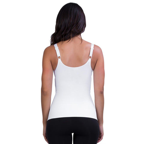 Belly Bandit Mother Tucker Nursing Tank - White-Maternity Tops- Natural Baby Shower