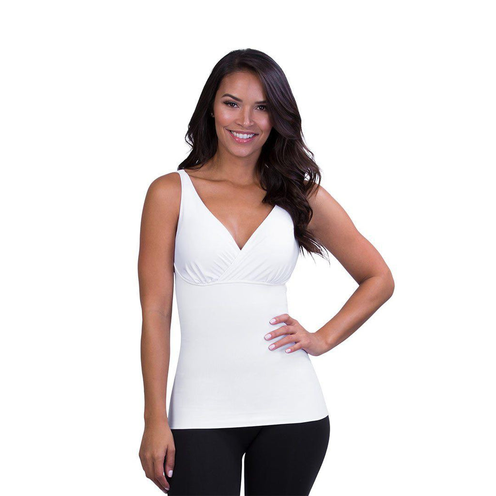 ac5398aaf17 Belly Bandit Mother Tucker Nursing Tank - White-Maternity Tops- Natural Baby  Shower ...