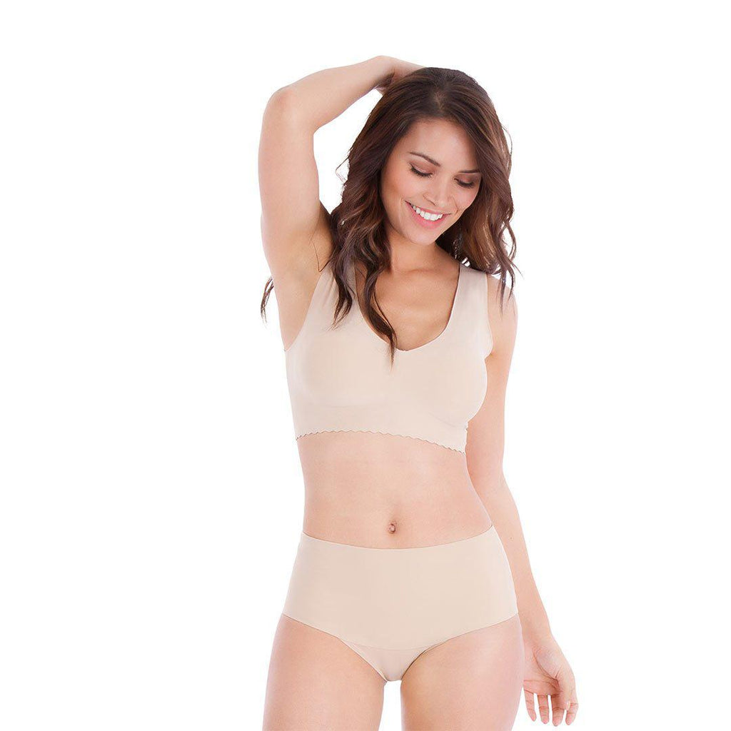 Belly Bandit Mother Tucker Smoothing Panties - Nude-Maternity Underwear- Natural Baby Shower