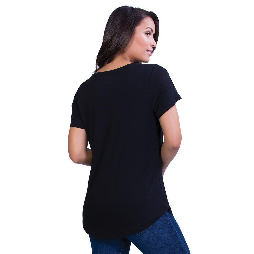 Belly Bandit Perfect Nursing Tee - Black-Maternity Tops- Natural Baby Shower