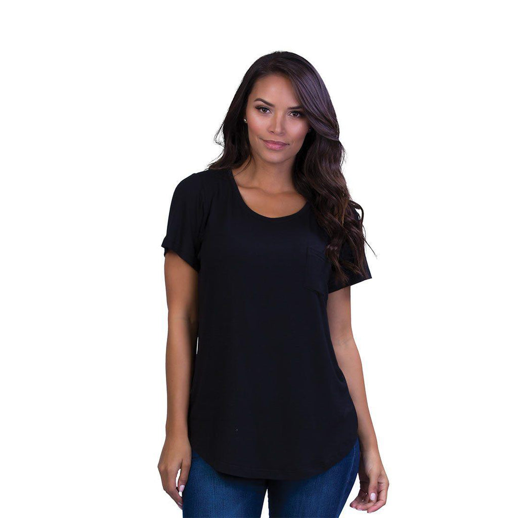 3cd997c28bb70 Belly Bandit Perfect Nursing Tee - Black-Maternity Tops- Natural Baby Shower  ...