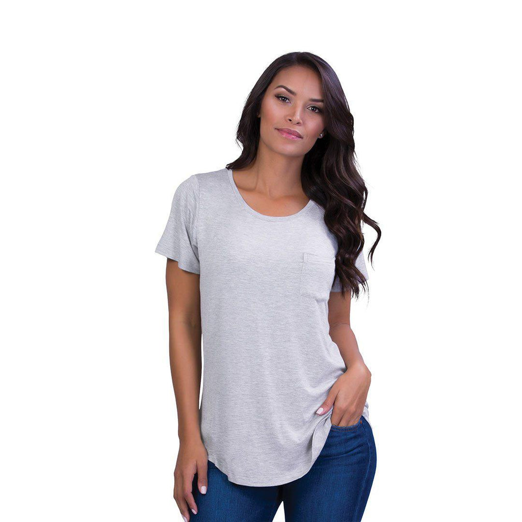 Belly Bandit Perfect Nursing Tee - Grey-Maternity Tops- Natural Baby Shower