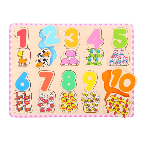 BigJigs Matching Colour & Number Puzzle