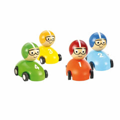 BigJigs Pull Back Racing Cars 2 Pack