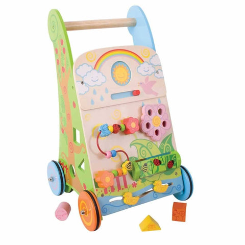 BigJigs Wooden Activity Baby Walker - Flower - Baby Walkers - Natural Baby Shower