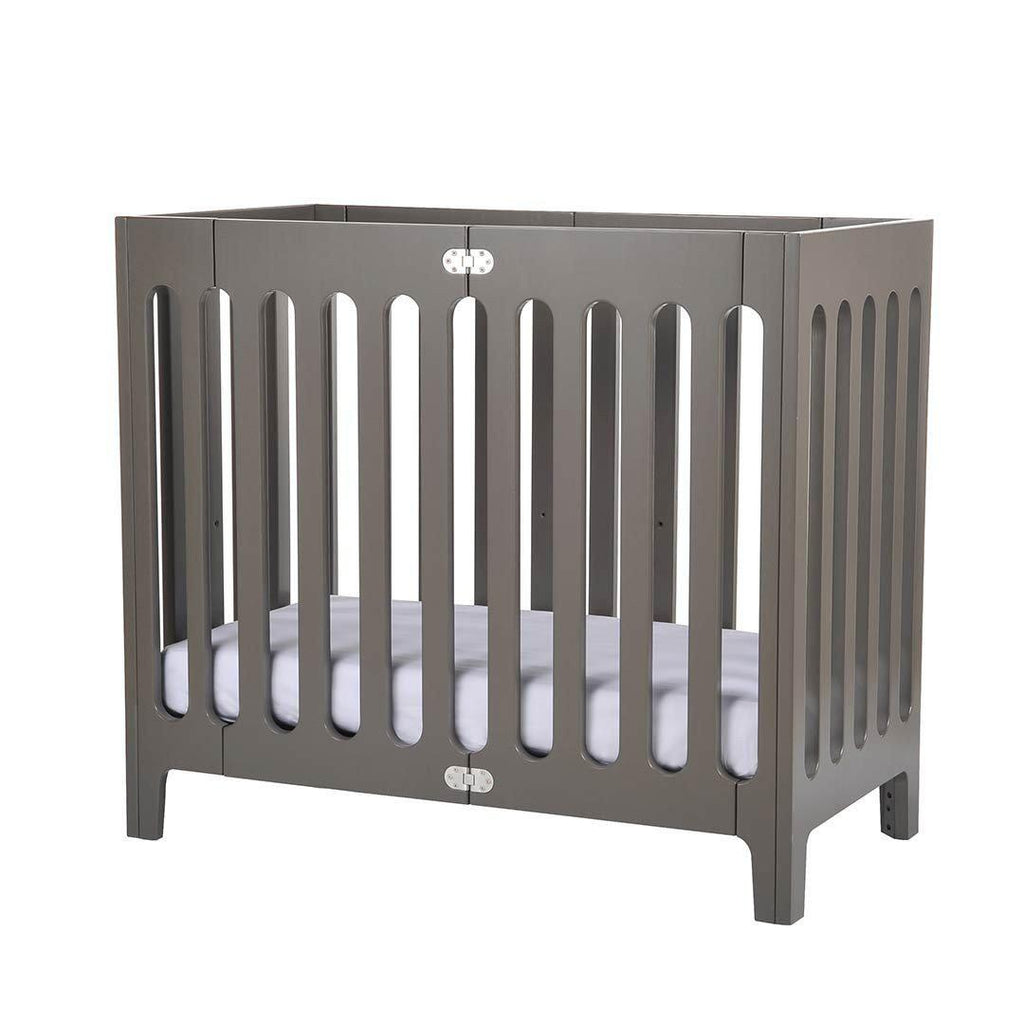 bloom alma mini crib in frost grey – natural baby shower - bloom alma mini crib  frost grey