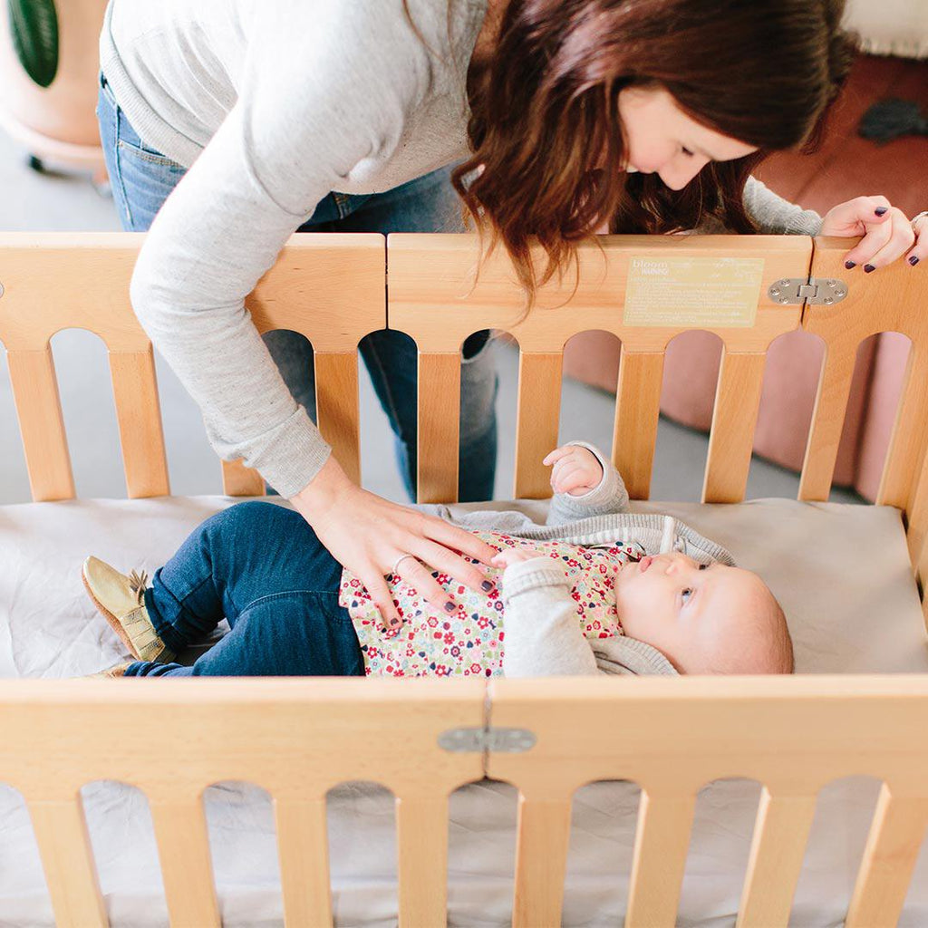 Bloom Alma Mini Crib - Natural 9