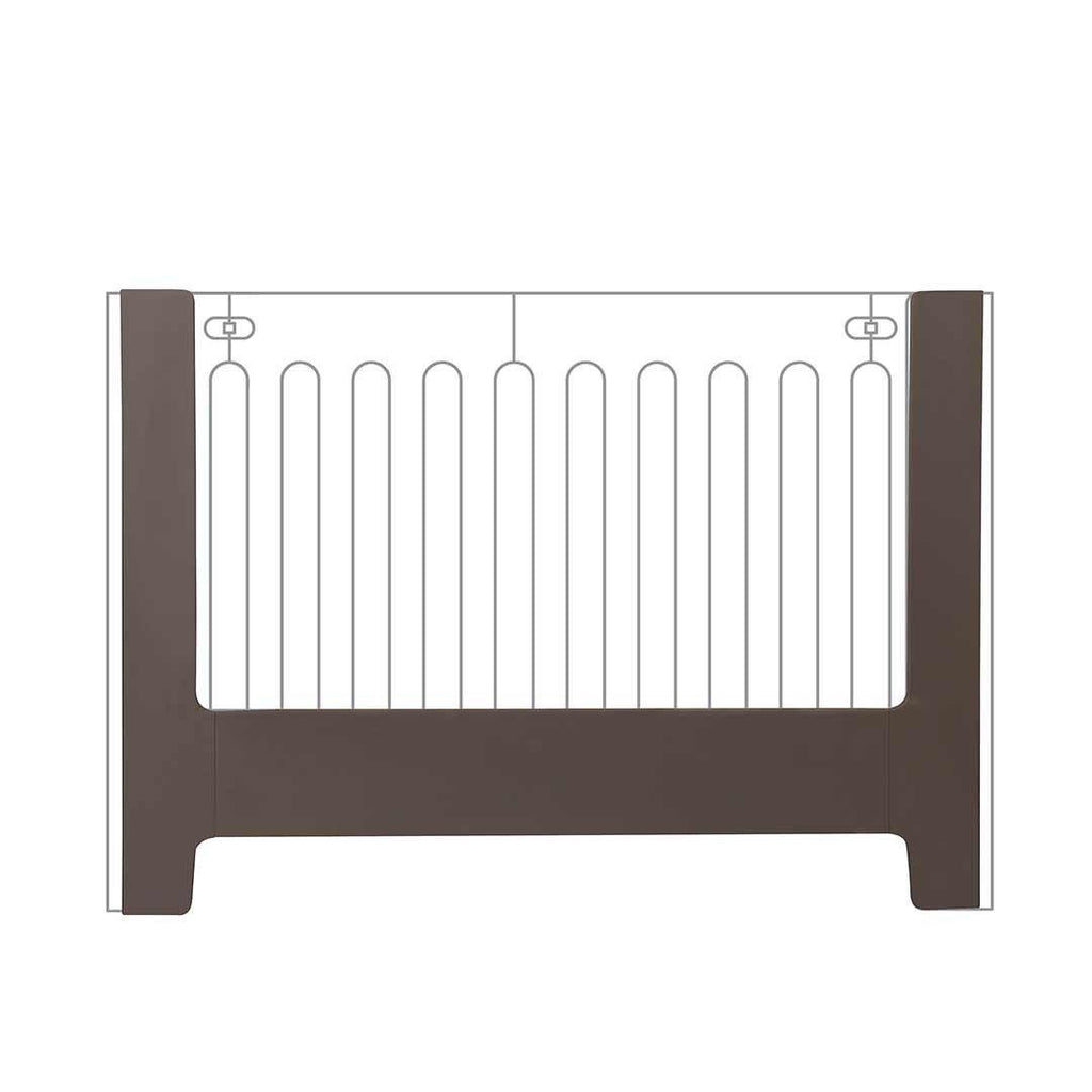 bloom alma papa crib toddler rail in frost grey – natural baby shower - bloom alma papa crib toddler rail frost grey