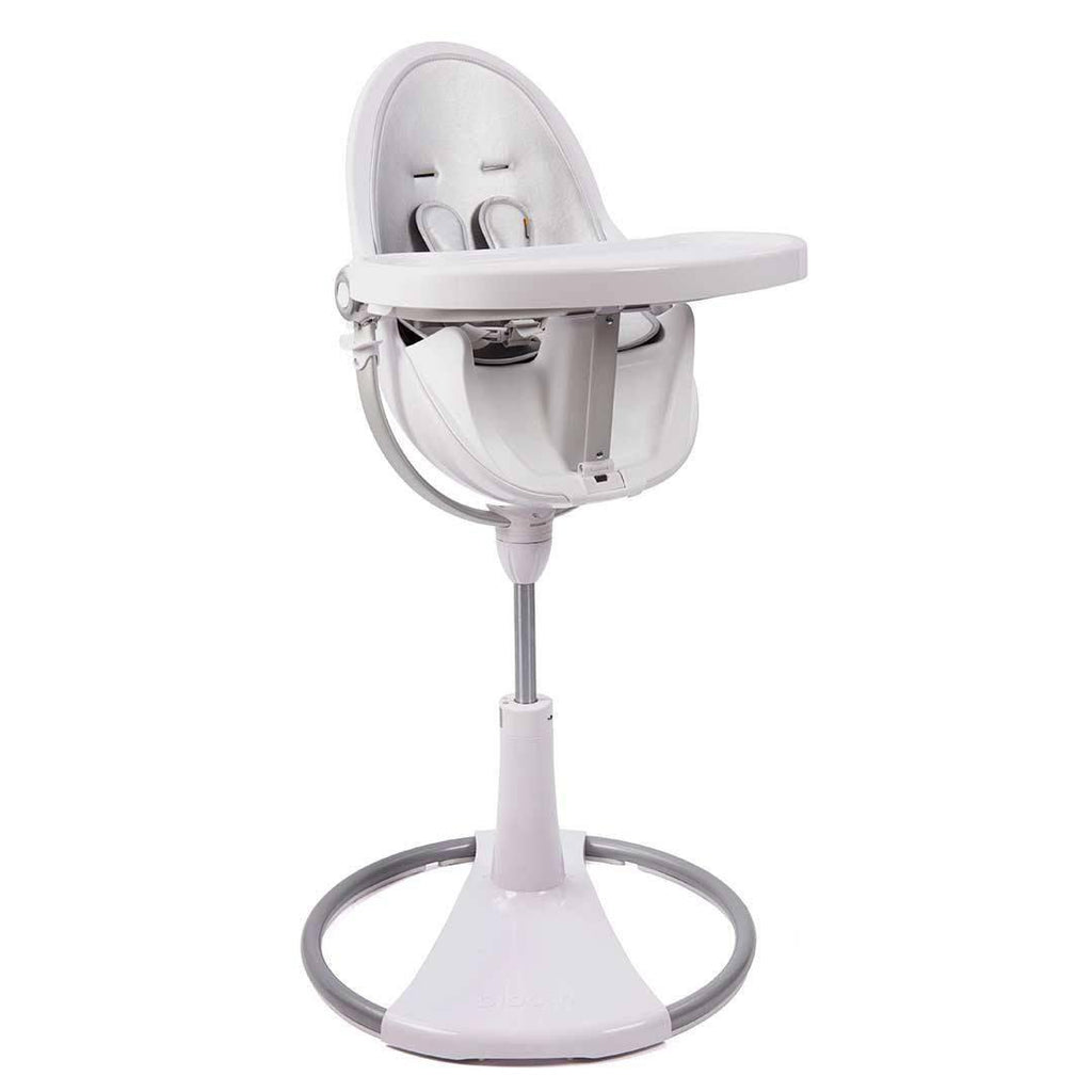 Bloom Fresco High Chair - White + Lunar Silver Tray