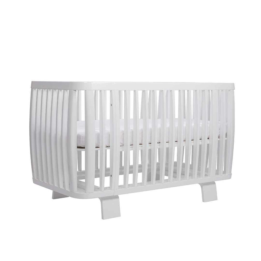Bloom Retro Crib - Coconut White Base