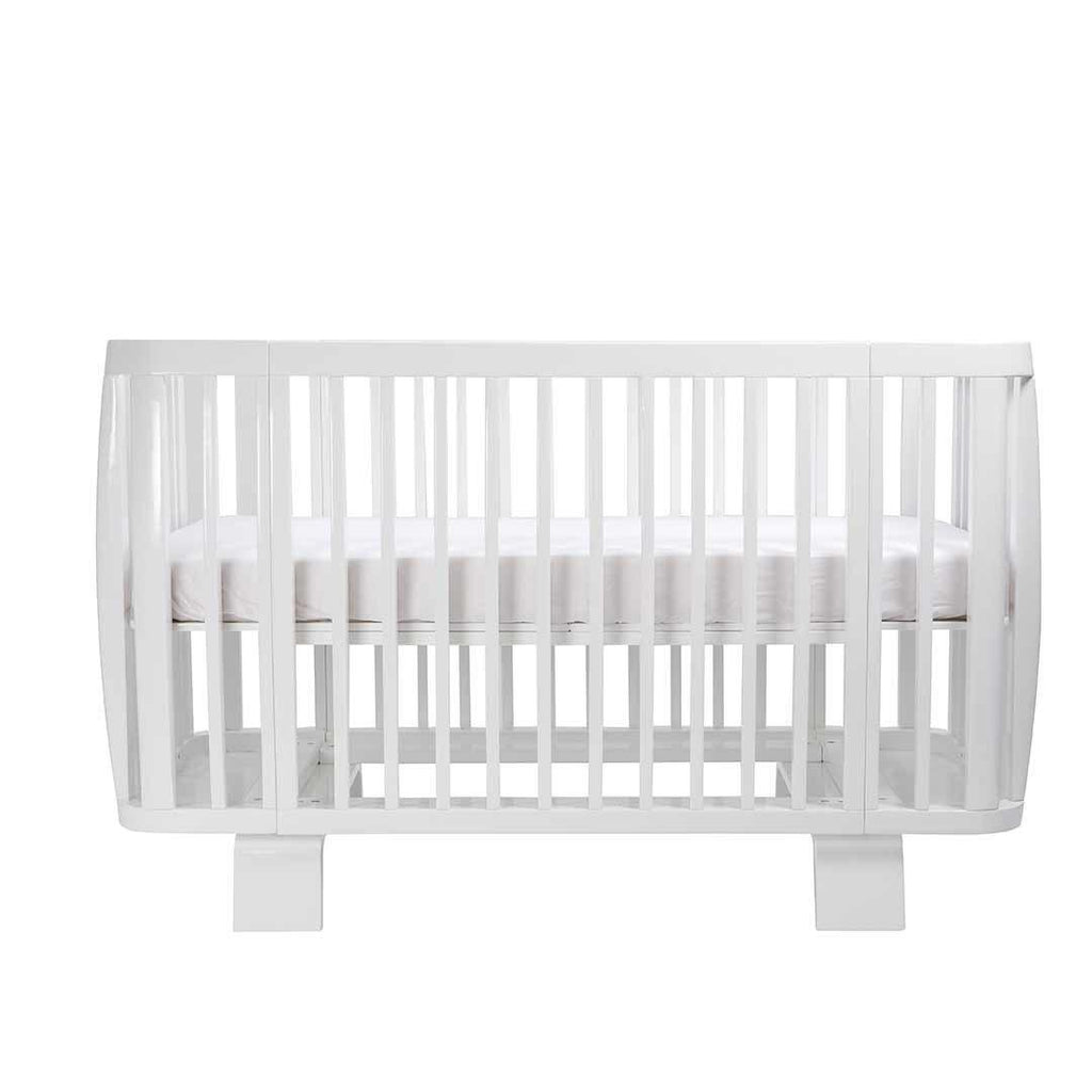 Bloom Retro Crib - Coconut White Front