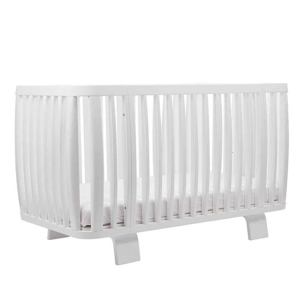 Bloom Retro Crib - Coconut White Side