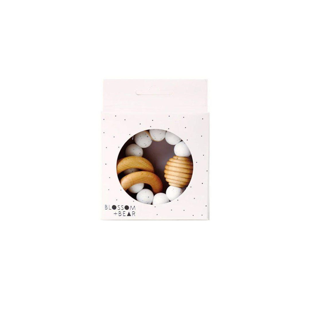Blossom & Bear Beehive Teething Ring - Speckled