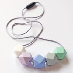 Blossom & Bear Hexagon Teething Necklace