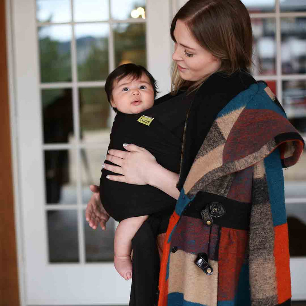 cc96a443739 Boba Bamboo Wrap - Black-Baby Carriers-Default- Natural Baby Shower ...
