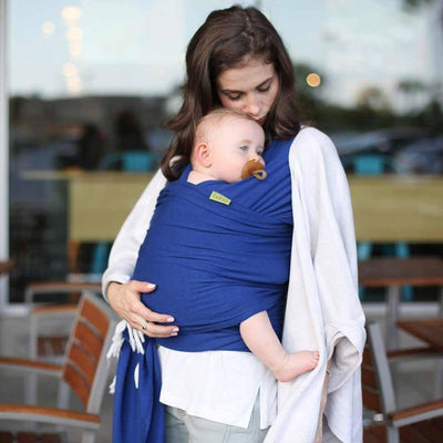 Boba Bamboo Wrap - Dark Blue-Baby Carriers-Default- Natural Baby Shower