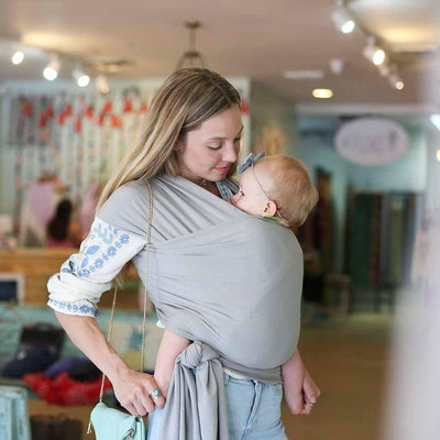 Boba Bamboo Wrap - Light Grey-Baby Carriers-Default- Natural Baby Shower