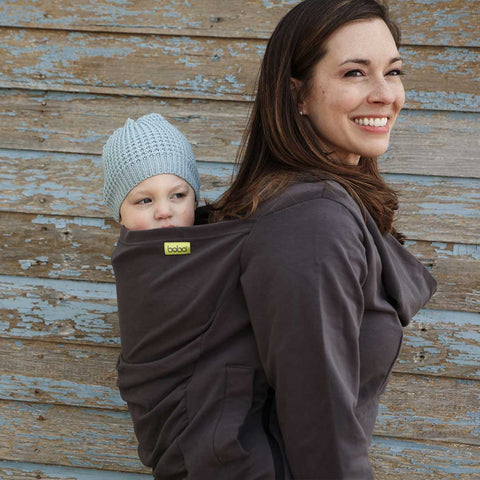 Boba Hoodie - Grey-Baby Carriers- Natural Baby Shower