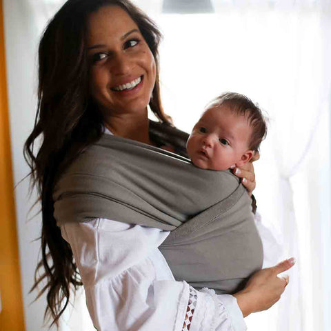 Boba Wrap - Grey-Baby Carriers-Default- Natural Baby Shower